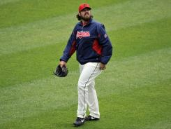Cleveland Indians relief pitcher Chris Perez has 22 saves this season with an ERA of 2.63.
