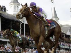 I'll Have Another, seen here in the Kentucky Derby, also won the Preakness and was seeking to becoming only the 12th Triple Crown einner before being retired prior to the Belmont Stakes due to a tendon injury.