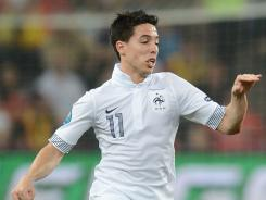 French midfielder Samir Nasri during the Euro 2012 quarterfinal match with Spain.