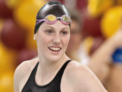 Missy Franklin is shown here at the Minneapolis Grand Prix at the University of Minnesota Aquatic Center on Nov. 13, 2011.