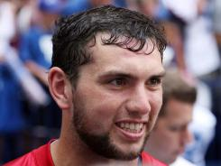 New Colts quarterback Andrew Luck said his current cell phone cost just $10. He favors cheap phones because he has a habit of losing them.