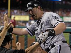 Good times -- and home runs -- are much more frequent now for White Sox designated hitter Adam Dunn, who's rebounded from last year's debacle by tying for the major league in home runs this season.