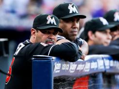 Not what they expected: The Marlins and first-year manager Ozzie Guillen, shown May 17, had high hopes entering the season, but, nearing the All-Star break, they're trying to stay out of the National League East cellar.