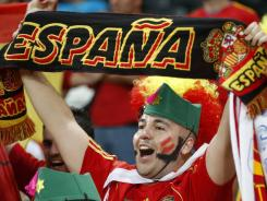 "Some fans of the Spanish soccer team, and not necessarily this supporter at the Euro 2012, have earned the national team charges of ""improper conduct of their supporters"" after racist chants were heard during recent matches."