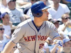 New York Mets' Daniel Murphy homered twice against the Cubs in a 17-1 rout.
