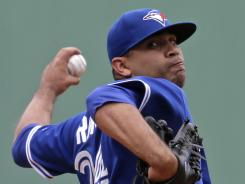 Blue Jays starter Ricky Romero threw 16 balls on his first 19 pitches.