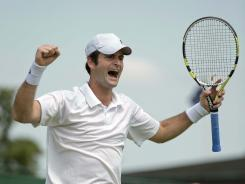 Brian Baker of the USA is into the third round of a Grand Slam tournament for the first time with a 6-0, 6-2, 6-4 victory against Jarkko Nieminen of Finland.