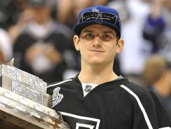 Kings goalie Jonathan Quick, 26, won the Conn Smythe as playoff MVP after posting a 16-4 record with a 1.41 goals-against average and a .946 save percentage.