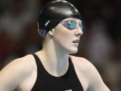 Missy Franklin prepares to compete in the women's 200 freestyle final in the Olympic swimming trials in Omaha on Thursday.