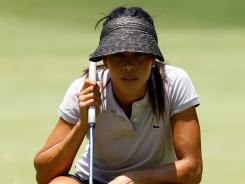 Venezuelan rookie Veronica Felibert shot a 6-under 65, and holds a one-stroke lead after Friday's first round.