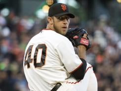Madison Bumgarner took a no-hitter into the sixth and finished with a one-hitter.