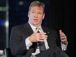 Roger Goodell says that a vote in March could decide whether a team relocates to Los Angeles.