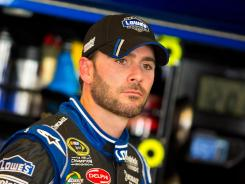 Jimmie Johnson won the pole position for Saturday's Quaker State 400 with a lap of 29.70 seconds at Kentucky Speedway.