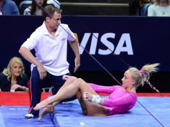 Nastia Liukin, one of the stars of the Beijing Games four years ago, saw her chances of making the 2012 Olympic team take a big hit Friday.