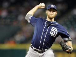 Padres starting pitcher Andrew Cashner held the Astros hitless for six innings in only his third big league start.