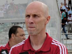 Egypt's American manager Bob Bradley, seen here in May, coached the U.S. national team from 2006-2011. He was appointed manager of the Egyptian national team in September 2011 after being fired by the U.S. in July.