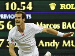 Andy Murray of Britain completed his four-set victory against Marcos Baghdatis of Cyprus at 11:02 p.m. local time, two minutes past the tournament curfew for the village of Wimbledon. It's the latest finish in Wimbledon history.