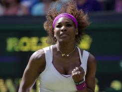 Serena Williams never dropped serve but hardly cruised Saturday in her third-round win against China's Zheng Jie.