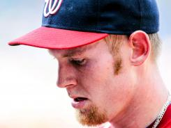 Nationals starter Stephen Strasburg was tagged with the loss, falling to 9-3 on the year, lasting only three innings due to temperatures rising over 100 degrees in Atlanta.