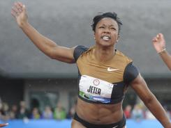Sense of urgency: Sprinter Carmelita Jeter, a first-time Olympian at 32, will run the 100 and 200 meters.
