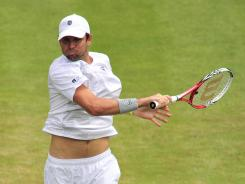 "The swinging volley ""is such a natural shot for me,"" says 10th-seeded Mardy Fish, who plays No. 5 seed Jo-Wilfried Tsonga of France in the fourth round Monday."