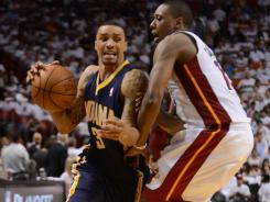 Indiana Pacers shooting guard George Hill, left, was thrust into a starting role last season after Darren Collison was injured.