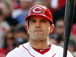 First baseman Joey Votto, shown April 5, is putting up numbers greater than during his 2010 MVP season.
