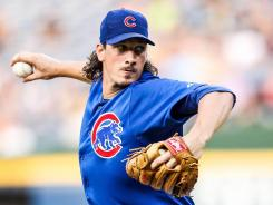 Cubs starter Jeff Samardzija recorded a career-high 11 strikeouts in seven innings, picking up his sixth win of the year.