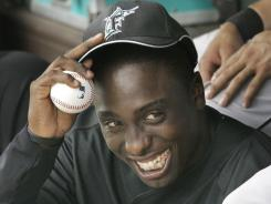 Dontrelle Willis, seen here in 2007 with the Marlins, won 22 games in 2005, finishing second in NL Cy Young voting.