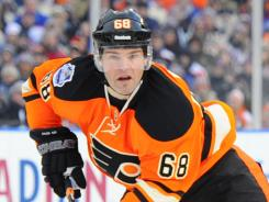 Jaromir Jagr was the third-leading scorer on the Flyers last season.