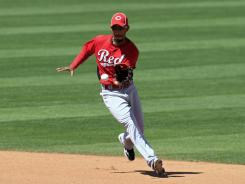 Billy Hamilton, seen here during spring training, stole his 100th base of the season Monday, after stealing 103 in 2011.