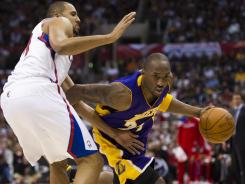 Veteran leadership: At 33, Kobe Bryant, right, is the senior member of the U.S. men's basketball team for the London Olympics. Bryant averaged 15.0 points a game for Team USA in its 2008 gold medal performance.