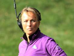 Dottie Pepper was named as an assistant captain for the U.S. Solheim Cup team.