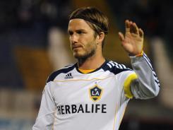 David Beckham has scored three goals in 15 games this season.