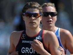 Sarah Groff places 15th in the women's race in the ITU World Championship Series in San Diego on May 11, 2012.
