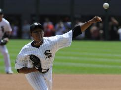 Rookie Jose Quintana struck out a career-high eight Rangers in a 2-1 White Sox victory Thursday.