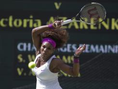 Serena Williams shook off a challenge from Victoria Azarenka on Thursday to reach the Wimbledon women's final.