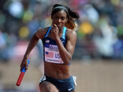 DeeDee Trotter is aiming for gold in the 400 meters and the 4x400 relay in London.