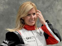 Formula One driver Maria De Villota was on her first official test with the Marussia team Tuesday when she hit the support truck in a straight-line exercise at an airfield in England.