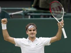 Roger Federer of Switzerland advanced to his eighth Wimbledon final and will be chasing his seventh singles title. On Friday, he defeated defending champion Novak Djokovic of Serbia 6-3, 3-6, 6-4, 6-3.