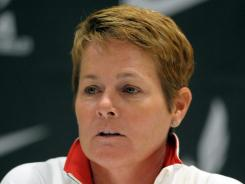United States womens coach Amy Deem at the 2012 U.S. Olympic Team Trials press conference at the Eugene Hilton.