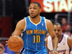 Eric Gordon played in nine games for the Hornets last season because of a bone bruise in his right knee that led to surgery.
