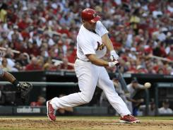 Matt Holliday has 216 career home runs and a lifetime batting average of .315.