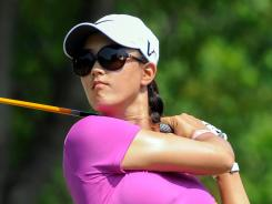 Michelle Wie tees off on the 13th hole Friday during the second round of the U.S. Women's Open at Blackwolf Run in Kohler, Wis.