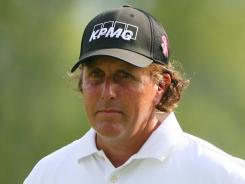 Phil Mickelson, who shot a 71 Thursday, repeated that score Friday in the Greenbrier Classic.