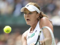 Agnieszka Radwanska of Poland, who will face Serena Williams in the final on Saturday, was battling a respiratory illness Friday.