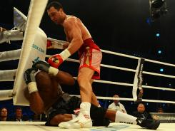 Wladimir Klitschko improved to 58-3 in his career, knocking out American Tony Thompson in the sixth round.
