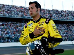 Sam Hornish Jr. just barely made it in time for the national anthem Saturday and ended up driving the No. 22 Dodge for Penske Racing.
