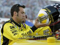 Sam Hornish Jr. prepares to take the ride of A.J. Allemendinger's No. 22 Dodge on Saturday night at Daytona International Speedway.
