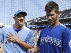 Angels outfielder Mike Trout, left, 20, and Nationals outfielder Bryce Harper, 19, are among the youngest All-Stars in the game's history.